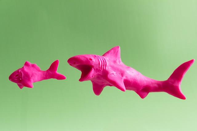 žralok z plastelíny