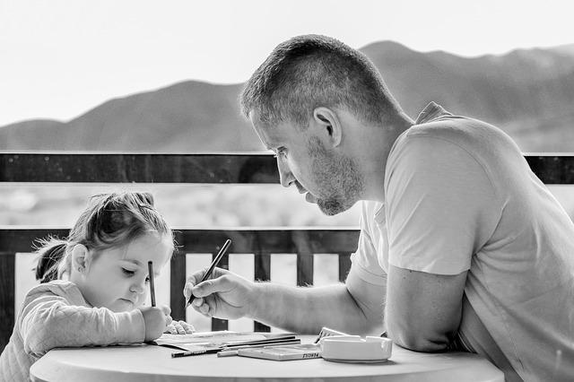 kreslení s dcerkou