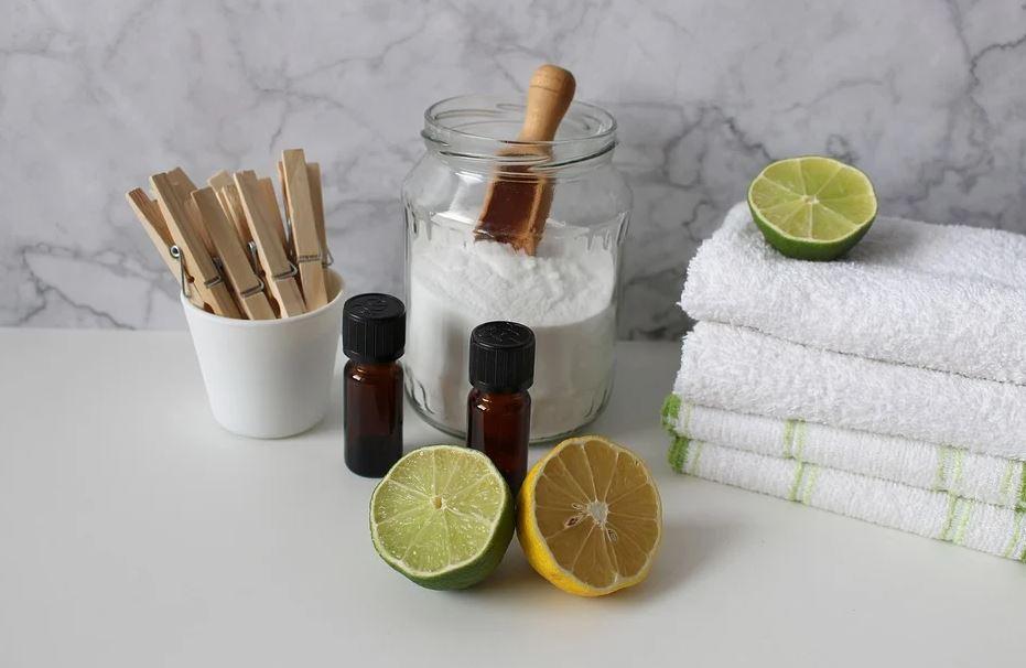 soda, citron a aroma oleje